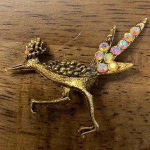 Vintage Roadrunner brooch